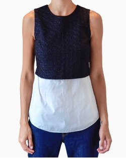 Blusa Theory Bicolor