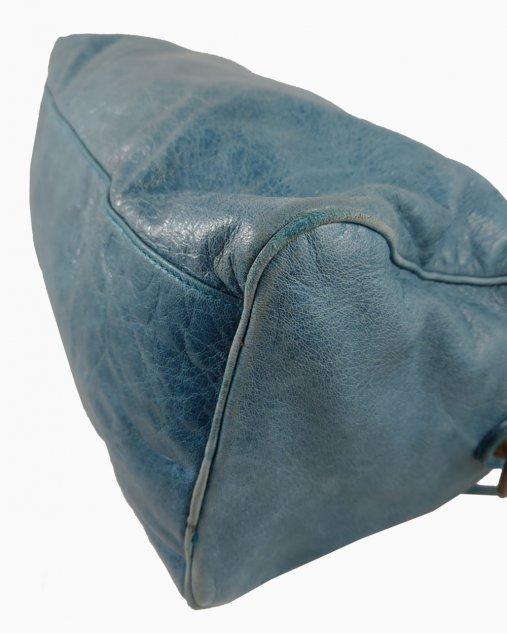 Bolsa Balenciaga Couro Azul