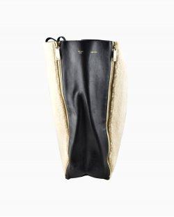 Bolsa Celine Zip Guesset Couro e Lã
