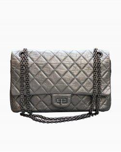 Bolsa Chanel 2.55 Double Flap Prata
