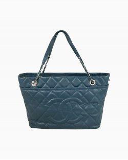 Bolsa Chanel Tote Azul Matelasse