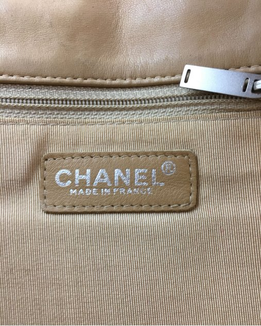 Bolsa Chanel Bege Alça Metal