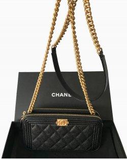 Bolsa Chanel Boy Wallet on Chain
