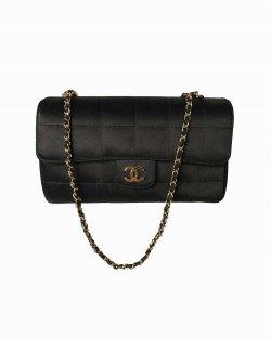Bolsa Chanel Cetim Preta