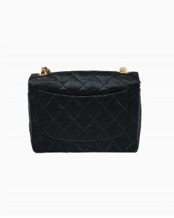 Bolsa Chanel Cetim Preta Vintage