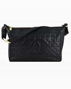 Bolsa Chanel Chocolate Bar Schoulder Preta