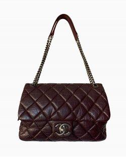 Bolsa Chanel Couro Vinho