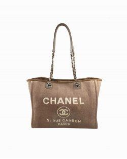 Bolsa Chanel Deauville Nude