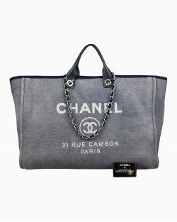 Bolsa Chanel Deauville Tote Extra Grande