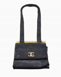 Bolsa Chanel Detalhe Amarelo Vintage