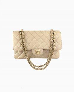 Bolsa Chanel Double Flap Bege