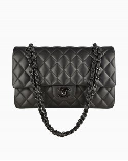 Bolsa Chanel Double Flap Chumbo