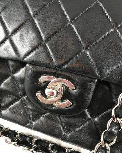 Bolsa Chanel Double Flap Preta Média