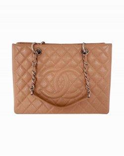 Bolsa Chanel GST Shopper Couro Caviar Rose