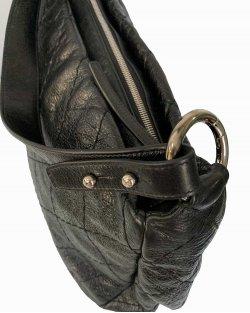 Bolsa Chanel Hobo Aged Leather Preta