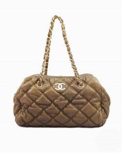 Bolsa Chanel Marrom Corrente
