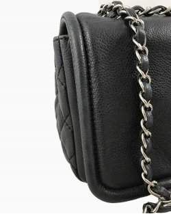 Bolsa Chanel Medium Caviar Timeless Flap Preta