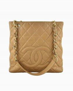 Bolsa Chanel Petit Shopper Caramelo