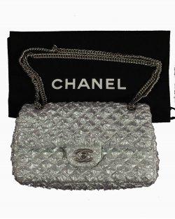 Bolsa Chanel Prata Ed. Limitada