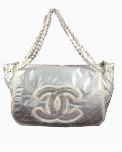 Bolsa Chanel Accordion Prata
