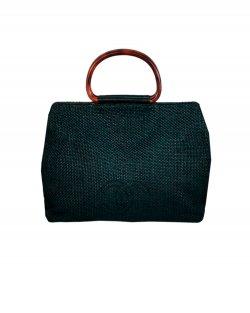 Bolsa Chanel Tecido Raffia Vintage