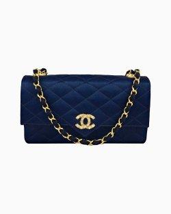 Bolsa Chanel Vintage Azul-Marinho
