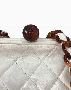 Bolsa Chanel Vintage Branca