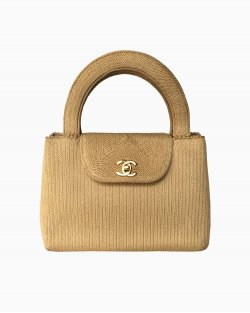 Bolsa Chanel Vintage Sisal Bege