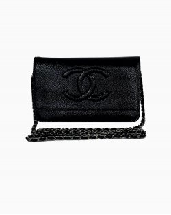 Bolsa Chanel WOC Verniz Preta