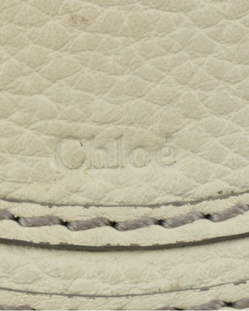 Bolsa Chloé Marcie Pequena Off White