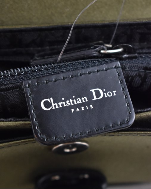 Bolsa Christian Dior Mini Hardcore Cristal Verde Militar