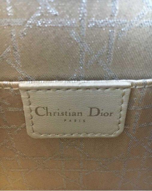 Bolsa Dior Veludo Molhado Cinza