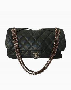 Bolsa Chanel Couro Shimmer Preto