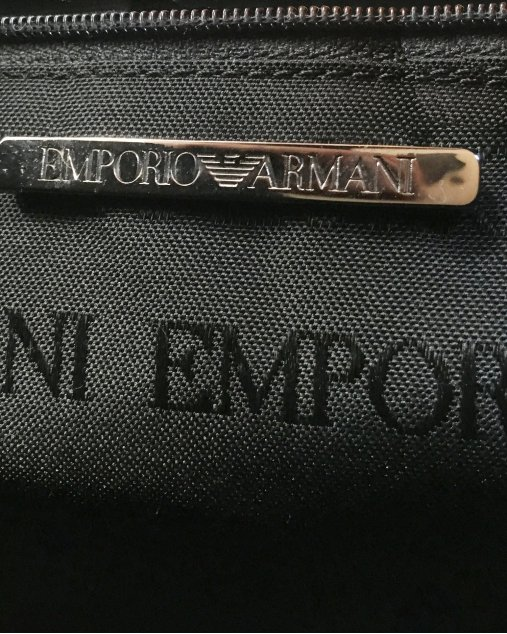 Bolsa Emporio Armani Croco Bege