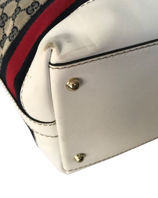 Bolsa Gucci Branco e azul