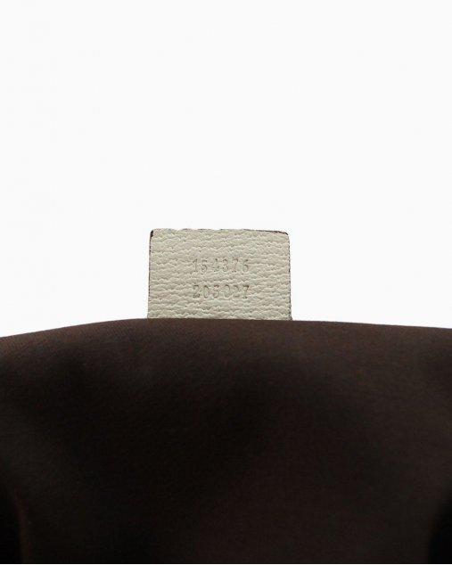 Bolsa Gucci Monograma Jacquard Bege