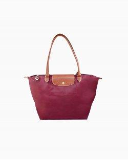 Bolsa Longchamp Le Pliage Vinho