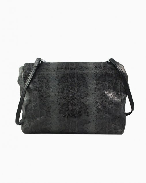 Bolsa Longchamp Snake Cinza