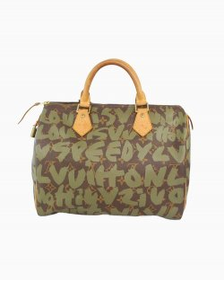 Bolsa Louis Vuitton Speedy Grafitti Cinza