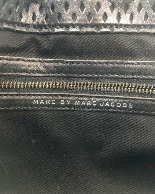Bolsa Marc by Marc Jacobs Alça Elos Couro Preto