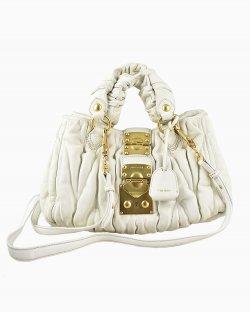 Bolsa Miu Miu Coffer Branca