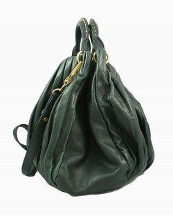 Bolsa Miu Miu Bosco Leather Plisse Shopping Bag