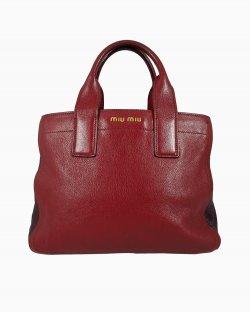 Bolsa Miu Miu Couro Vermelho