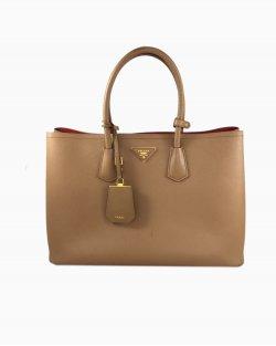 Bolsa Prada Double Bag Caramelo