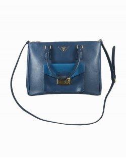 Bolsa Prada Galleria Pocket Azul