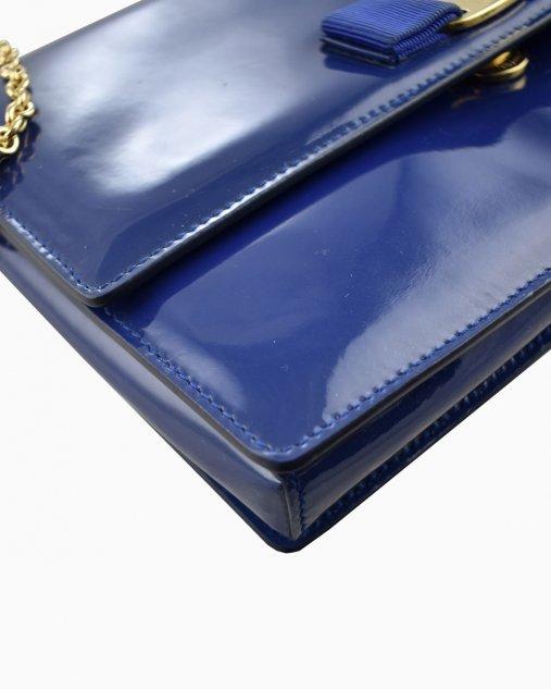 Bolsa Salvatore Ferragamo Verniz Azul