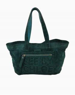 Bolsa See By Chloé Logo Verde