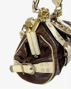Bolsa Versace Croco Marrom