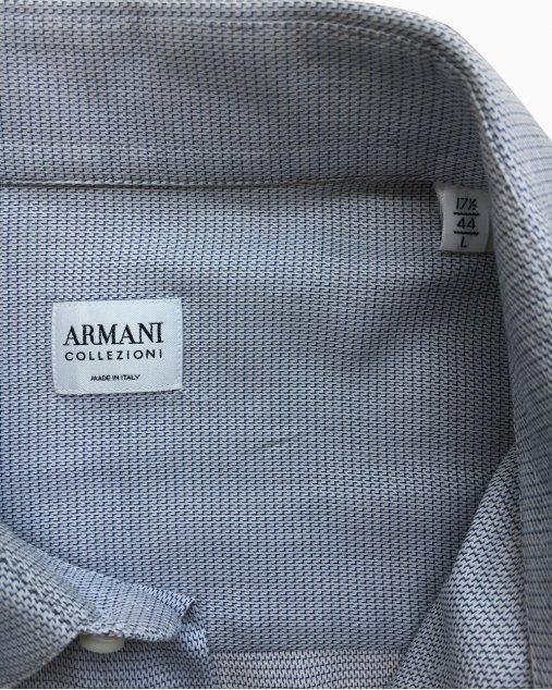 Camisa Armani Collezioni Azul