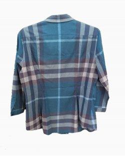 Camisa Burberry Azul Xadrez